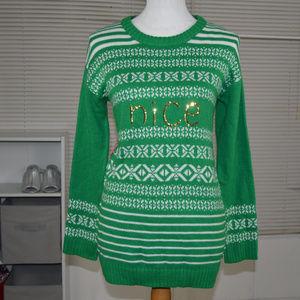 Nice Naugthy Xmas christmas sweater size medium